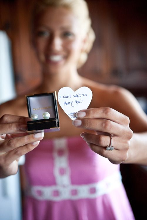 Wedding Day Gift From Groom To Bride! So Cute!
