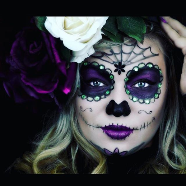 Photo of 33 Simple Sugar Skull Makeup looks- 2020 DIY Halloween Makeup Ideas – juelzjohn