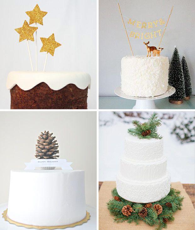 Simple Christmas Cake Decor | onefabday.com
