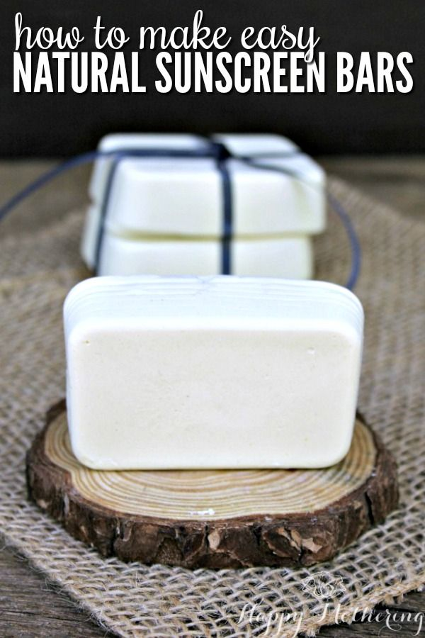 How to Make Easy All Natural Sunscreen Bars - Happy Mothering