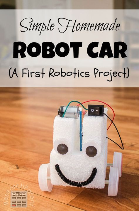 Simple Homemade Robot Car Stem Science For Kids Science
