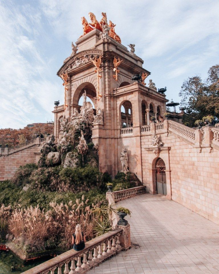 In Park de la Ciutadella, make sure to see Cascada Monumental, an Instagrammable spot in Barcelona. Get more of the best Instagram photo locations here in this 3 day Barcelona itinerary.