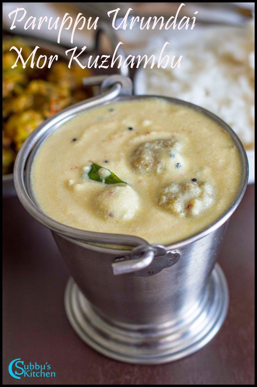 Paruppu Urundai Mor Kuzhambu Recipe Recipes Yogurt Curry Vegetarian Recipes