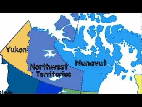 Map Of Canada Song.The Provinces And Territories Of Canada Youtube For Fifth Grade