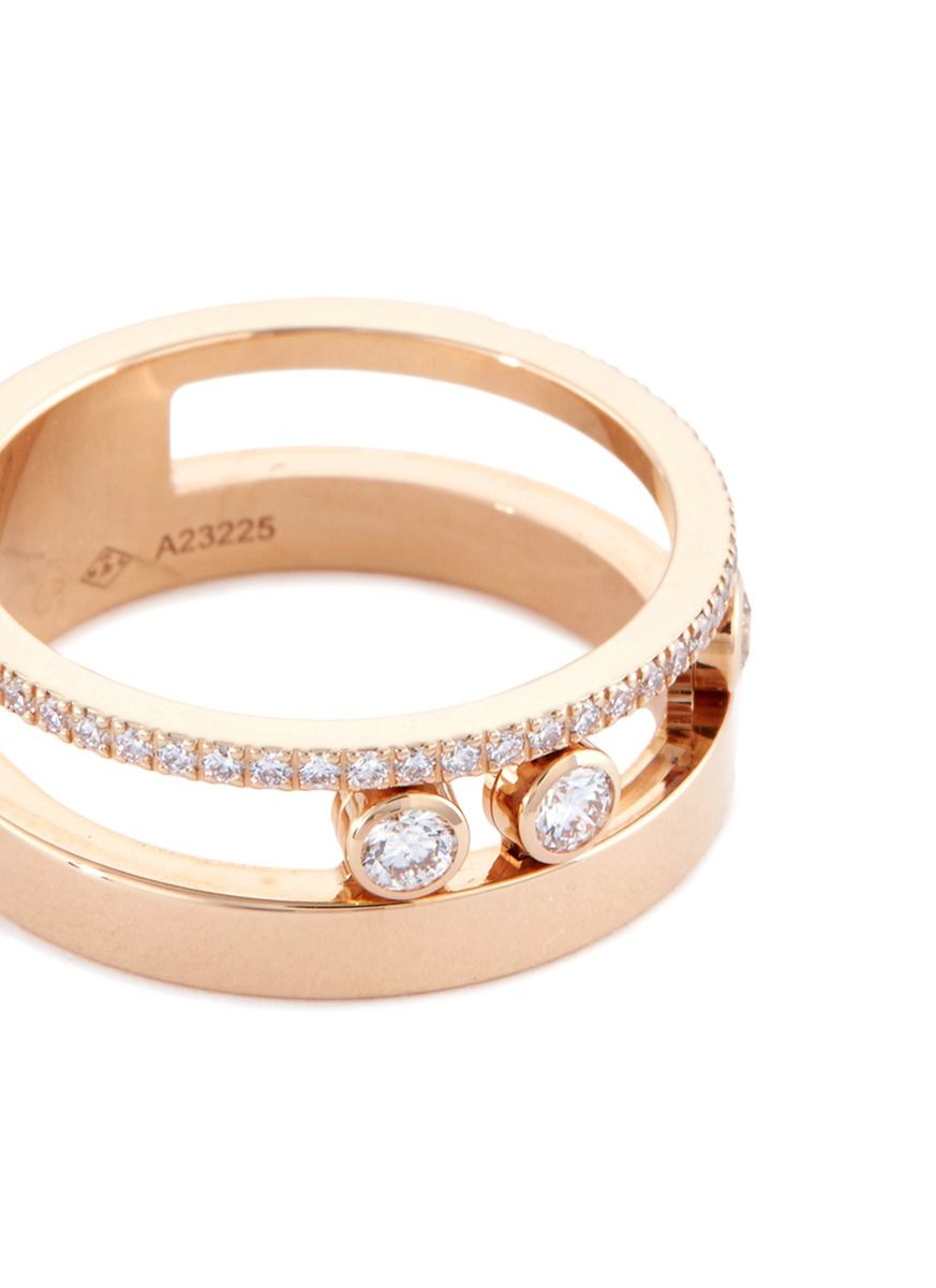 Messika Move Romane 18K Rose Gold Bangle with Diamonds KPT3HYJ