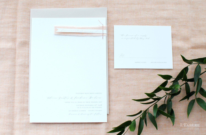 Ottawa wedding invitation designer LaFabère. lafabere.com | Lafabere ...