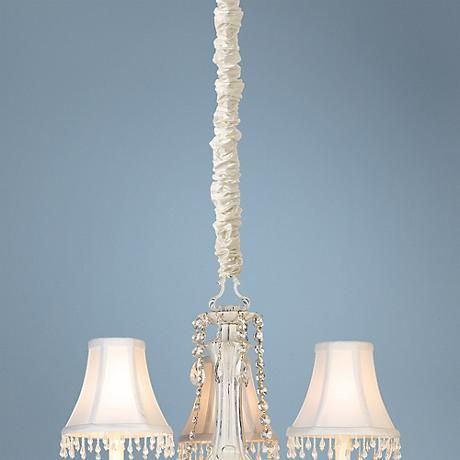 Cream silk 46 12 long chandelier chain cord cover living space cream silk 46 12 long chandelier chain cord cover aloadofball Image collections