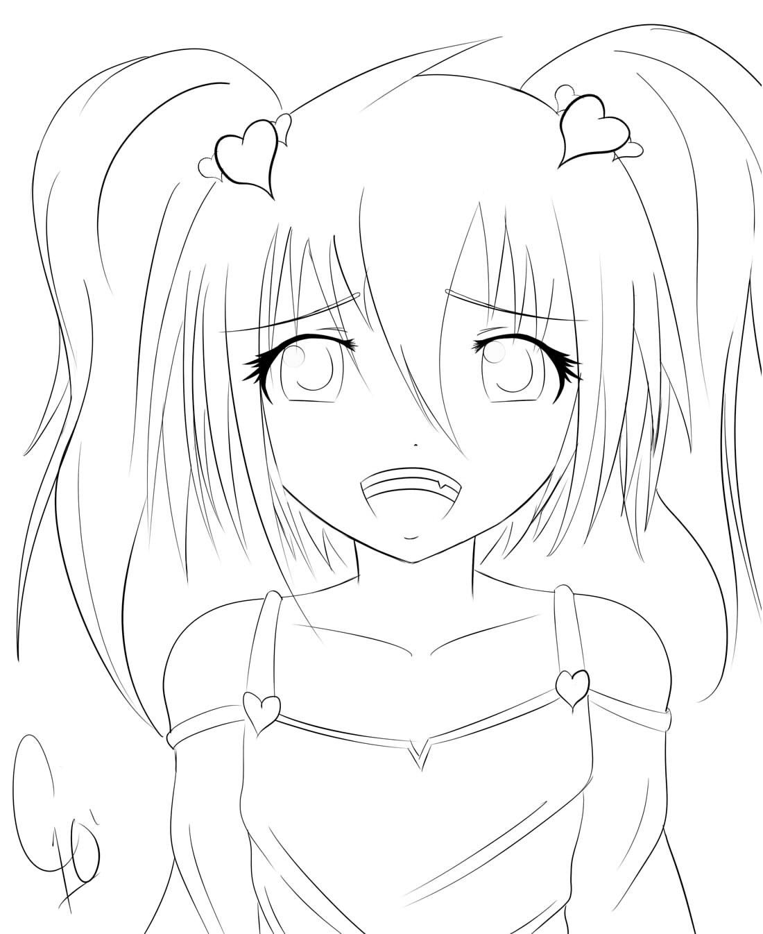 awesome anime girls coloring pages special picture - Coloring Pages Anime Princesses