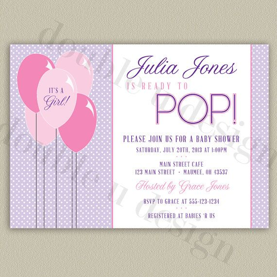 Color Options Ready To Pop Printable Baby Shower Invitation