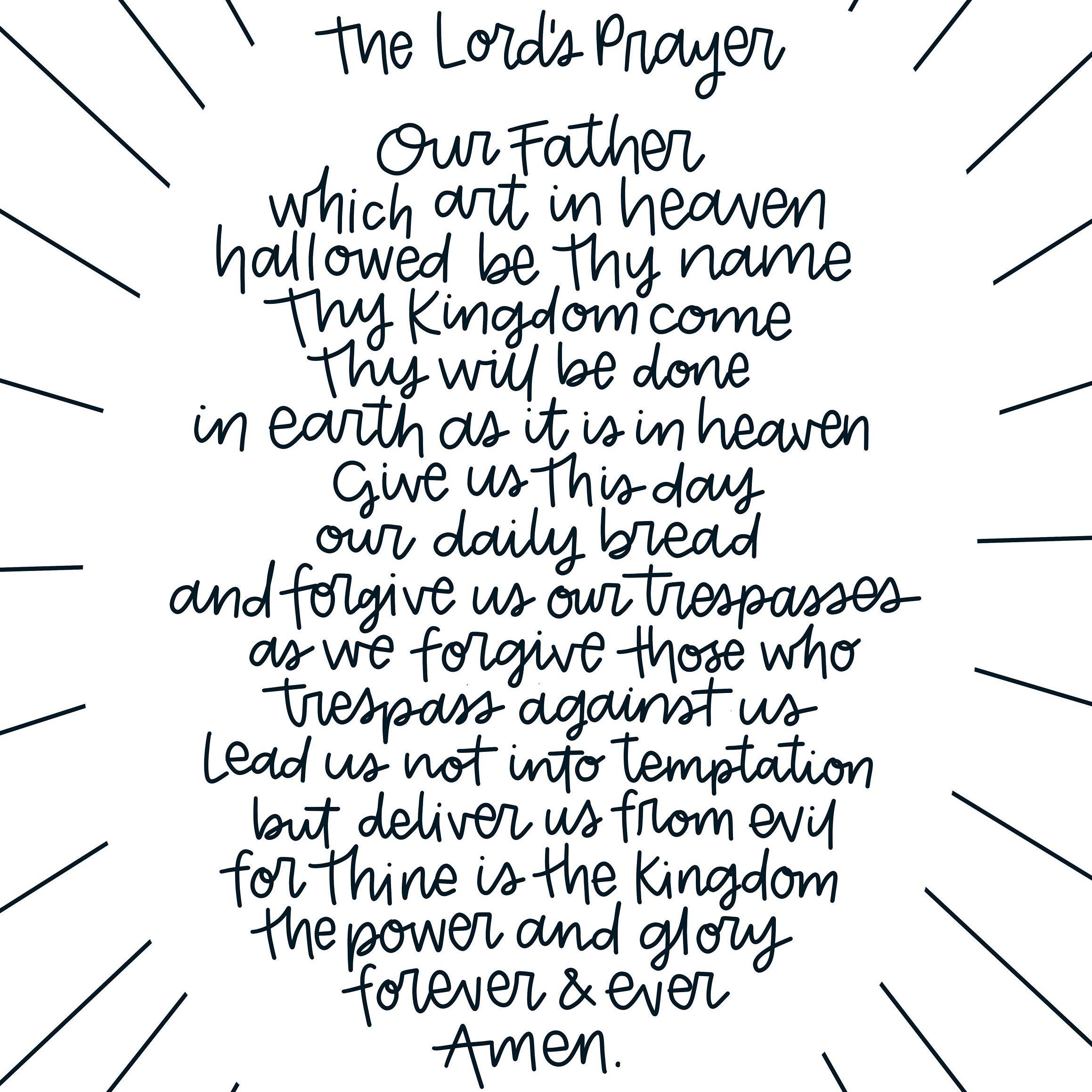 Art Print Modern Lord S Prayer Printable Download Art