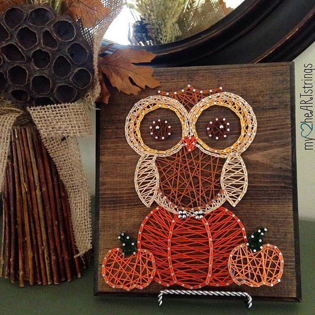 Owl Autumn String Art By My2heartstrings String Art Pinterest