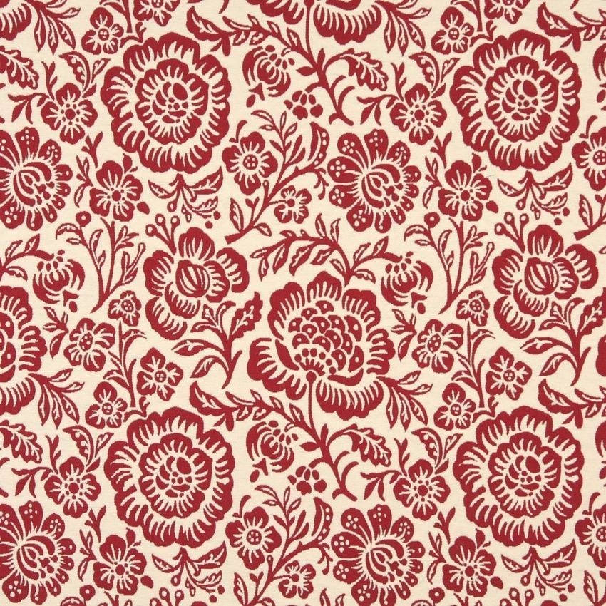 Garnet Burgundy and White Large Artistic Flowers Brocade Upholstery Fabric #velvetupholsteryfabric Garnet+Burgundy+and+White+Large+Artistic+Flowers+Brocade+Upholstery+Fabric