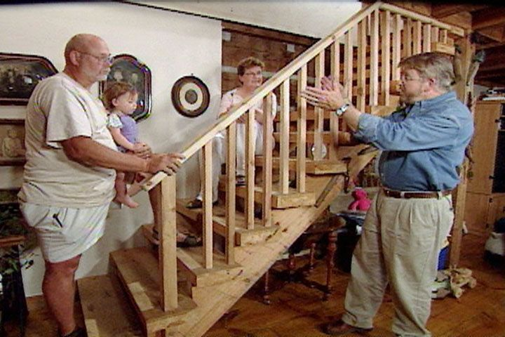 Best Add Protective Stair Railing To An Existing Staircase 400 x 300