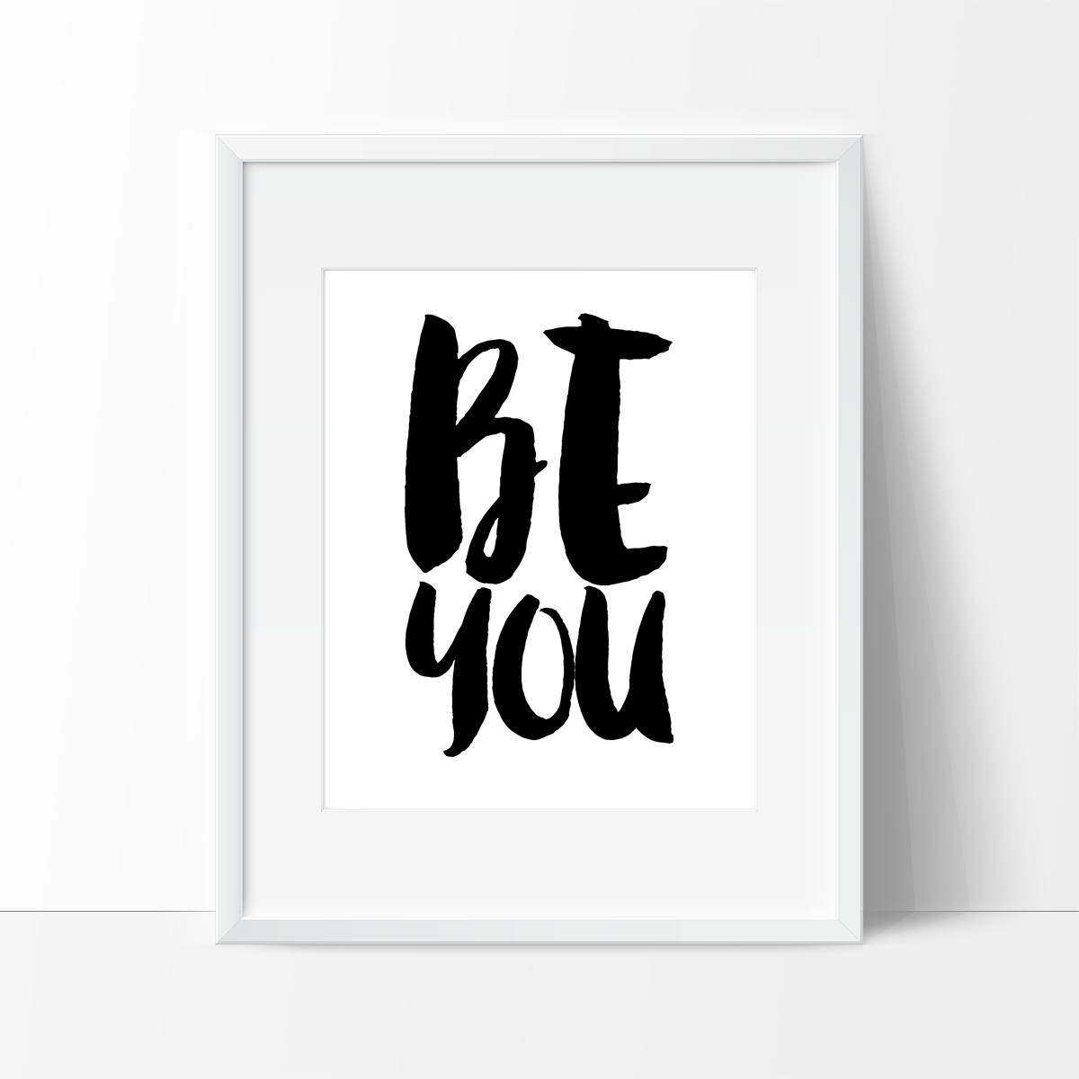 Be you typography in black and white wall decor ideas white wall