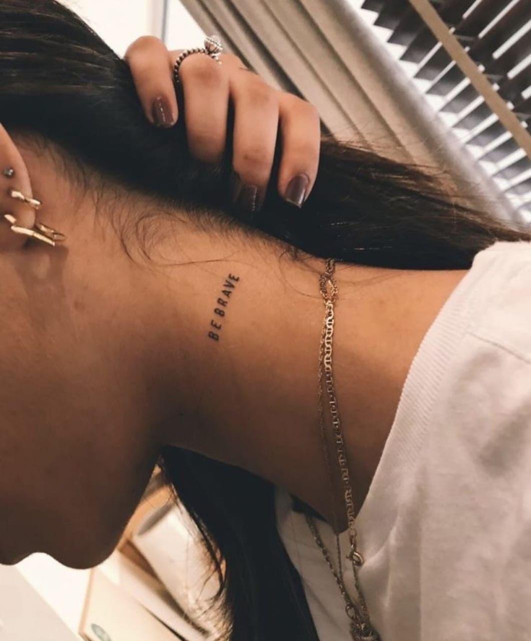 Pin De Vr En Religioso E Agendado Tatuajes Pequenos Cuello Tatuajes Tatuaje Del Cuello