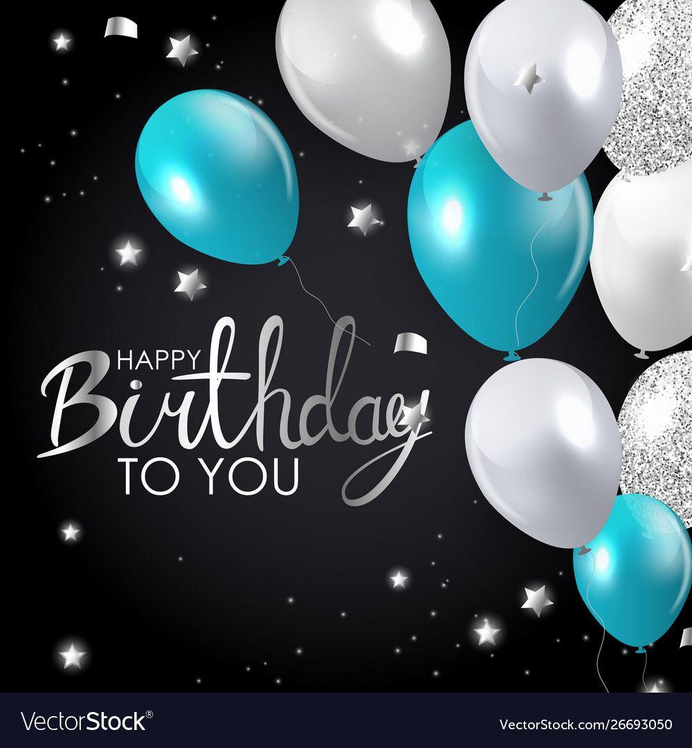 Glossy Happy Birthday Balloons Background Vector Image Sponsored B Happy Birthday Greetings Friends Happy Birthday Wishes Pics Happy Birthday Wishes Cards