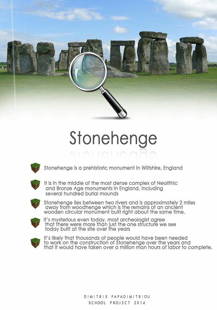Stonehenge school fact sheet   Stonehenge project   Pinterest   School