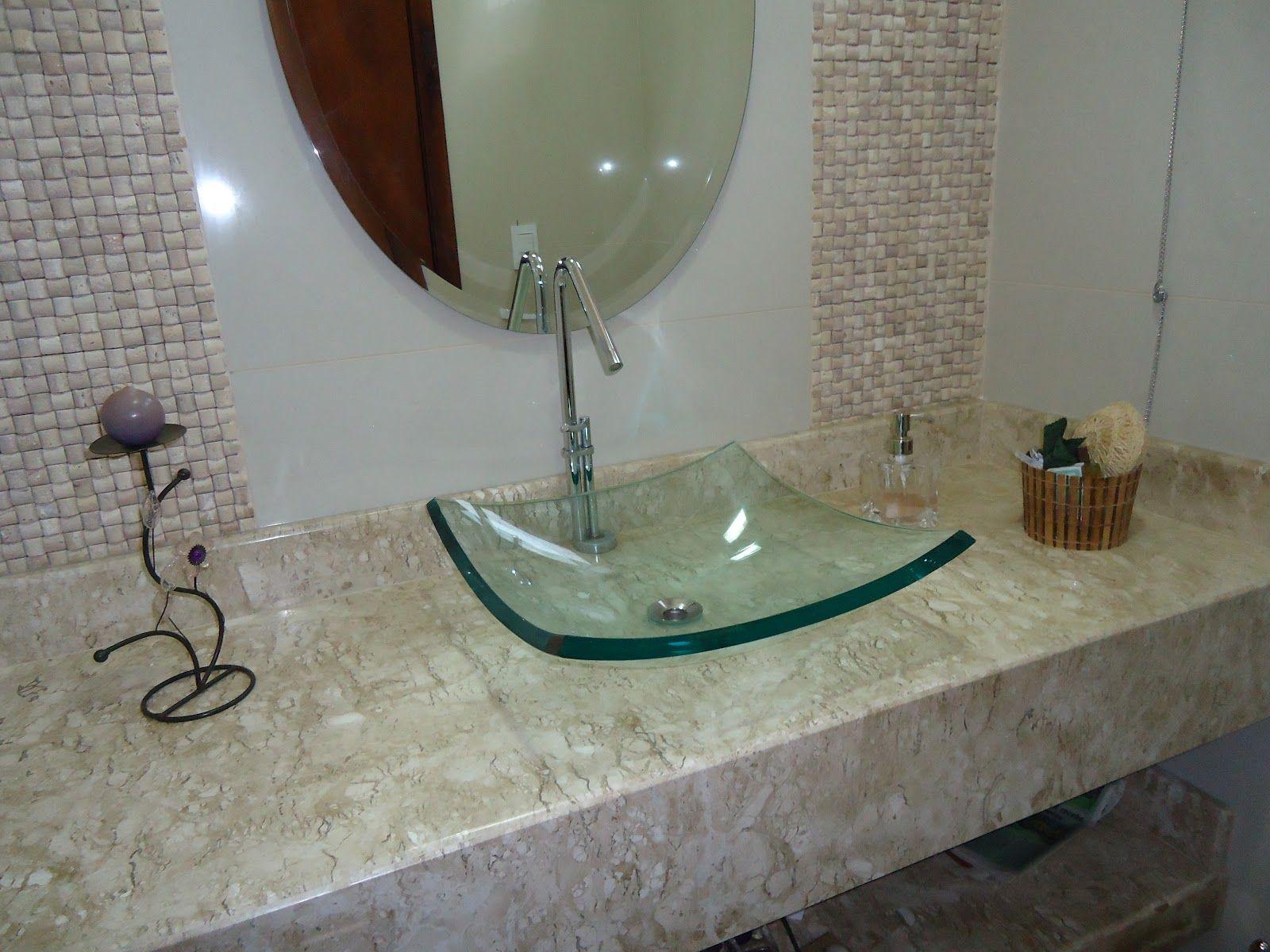 cuba de vidro em balcao de marmore branco - Pesquisa Google