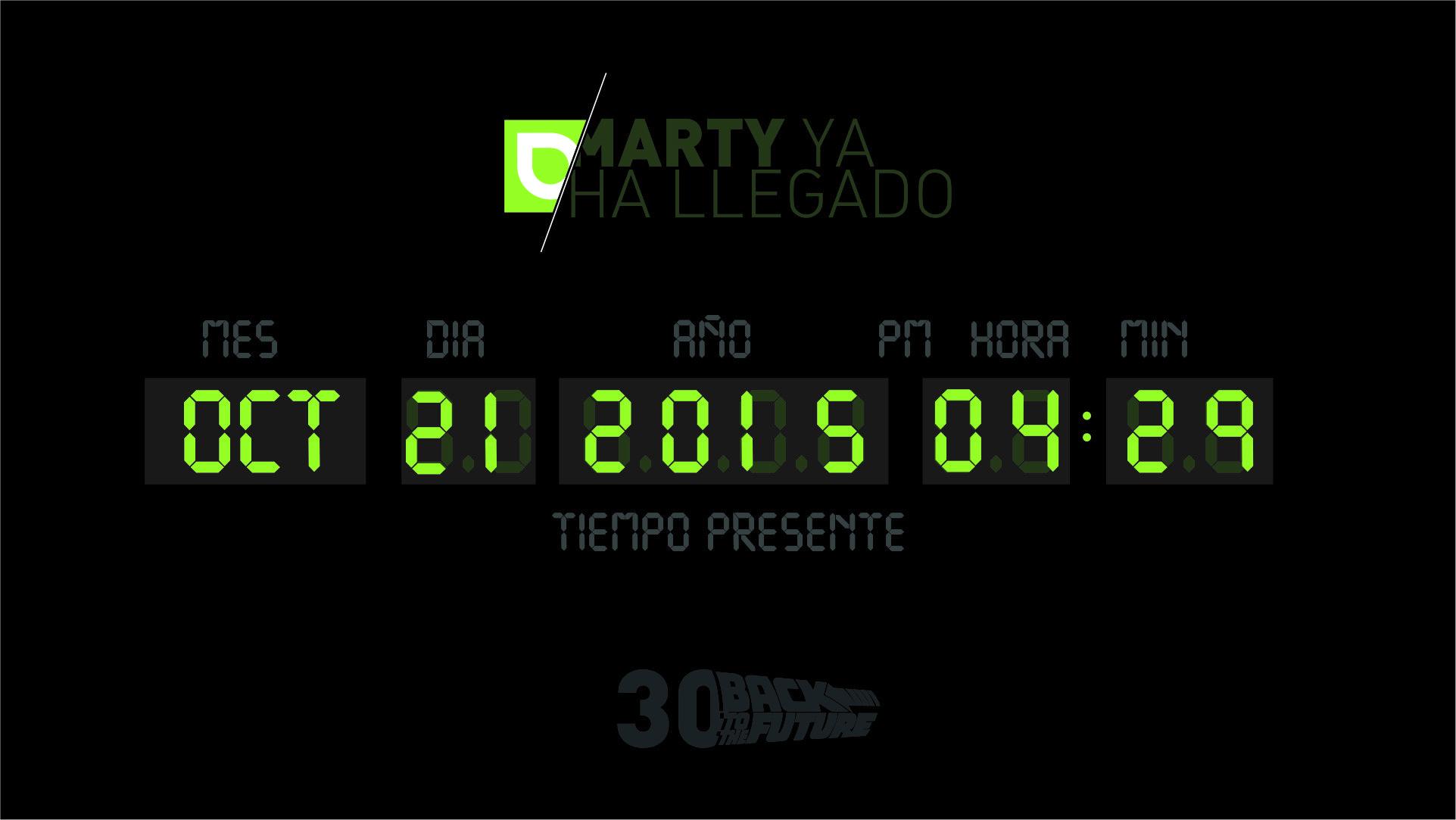 ¡MARTY YA HA LLEGADO!   En Grado Creativo hoy nos apuntamos a celebrar el día en el que Doc Brown y Marty McFly llegaron al futuro.   #cine #BackToTheFuture #publicidad #MartyMcFly #DocBrown