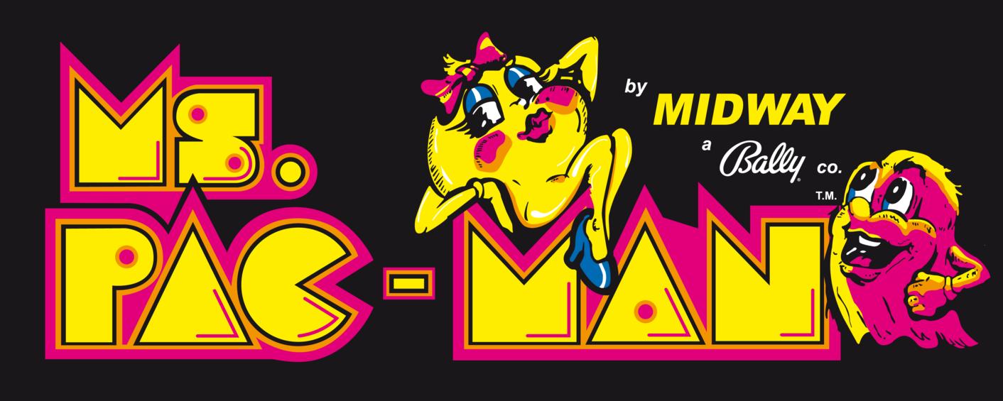 Ms Pacman Logo By Banesbox Retro Games Poster Retro Arcade Pacman