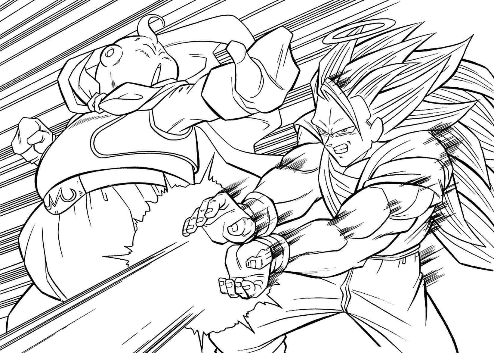 Dragon Ball Z Goku Super Saiyan 3 Coloring Pages Online Picturesque Dibujos Dibujos De Dragon Personajes De Dragon Ball