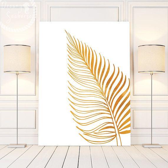 Gold Poster Wall Art Gold White Wall Art Gold Leaf Wall Art Etsy Wall Art Gold Leaf White Wall Art Leaf Wall Art