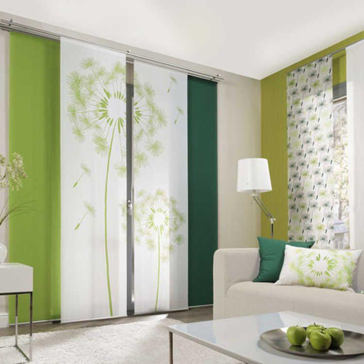 Löwenzahn Flächenvorhang (2er Set) - Grün Schiebegardinen Pinterest