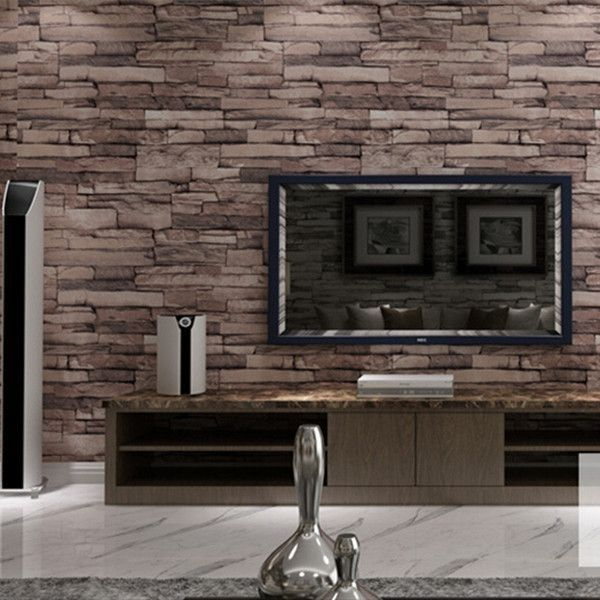 Vintage 3d Effect Stack Stone Wallpaper Wp109 Stone Wallpaper Brick Wall Wallpaper Wallpaper Walls Decor