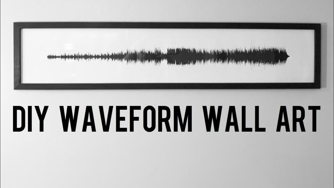 I made this wall art out of the waveform image of one of my favorite i made this wall art out of the waveform image of one of my favorite songs diy solutioingenieria Image collections