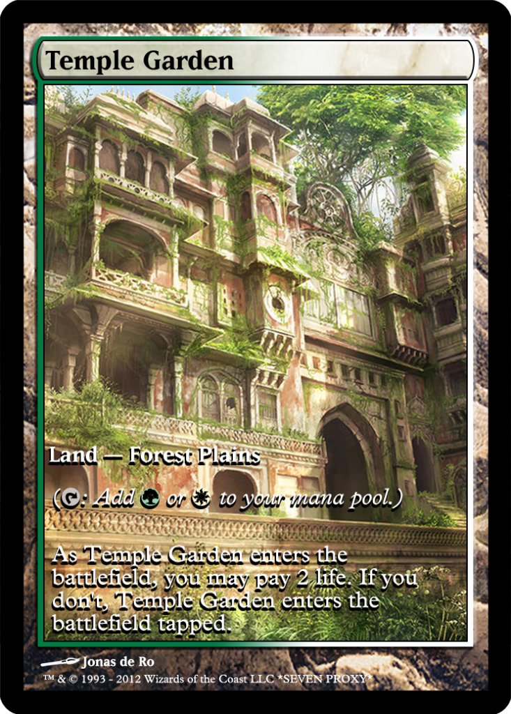 temple garden mtg digital rendering pinterest mtg mtg altered art and magic cards - Temple Garden