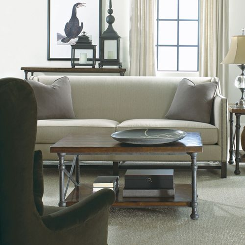 Bernhardt Chatham Sofa Vintage Patina Tail Table Vignette