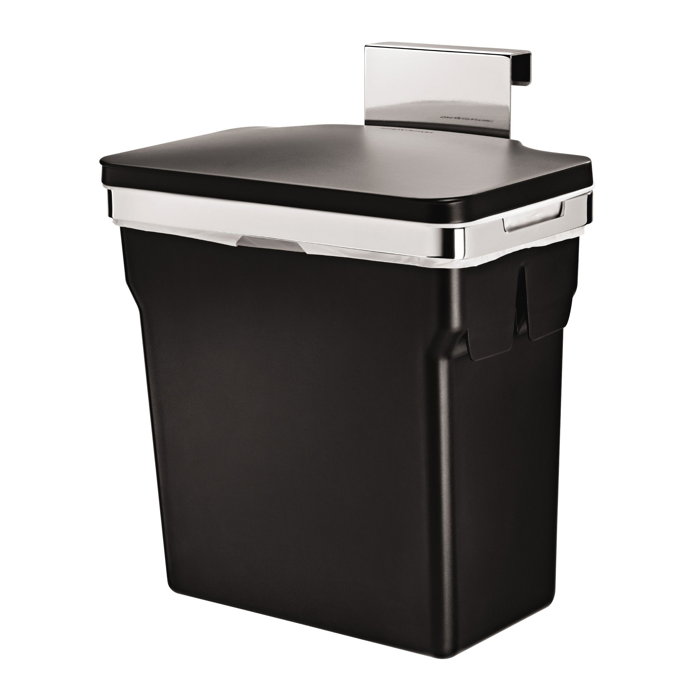 Beautiful Simplehuman Black Plastic Built In Rectangular Bin