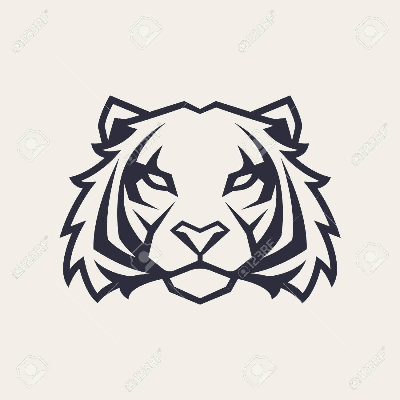 Tiger Looking Danger Tiger Head Icon Tiger Vector Logo Template Illustration Affiliate Head Icon Tiger Danger Te Tiger Vector Vector Art Vector