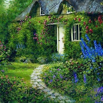Would you come inside my little green cottage and sit awhile. I'll make tea!