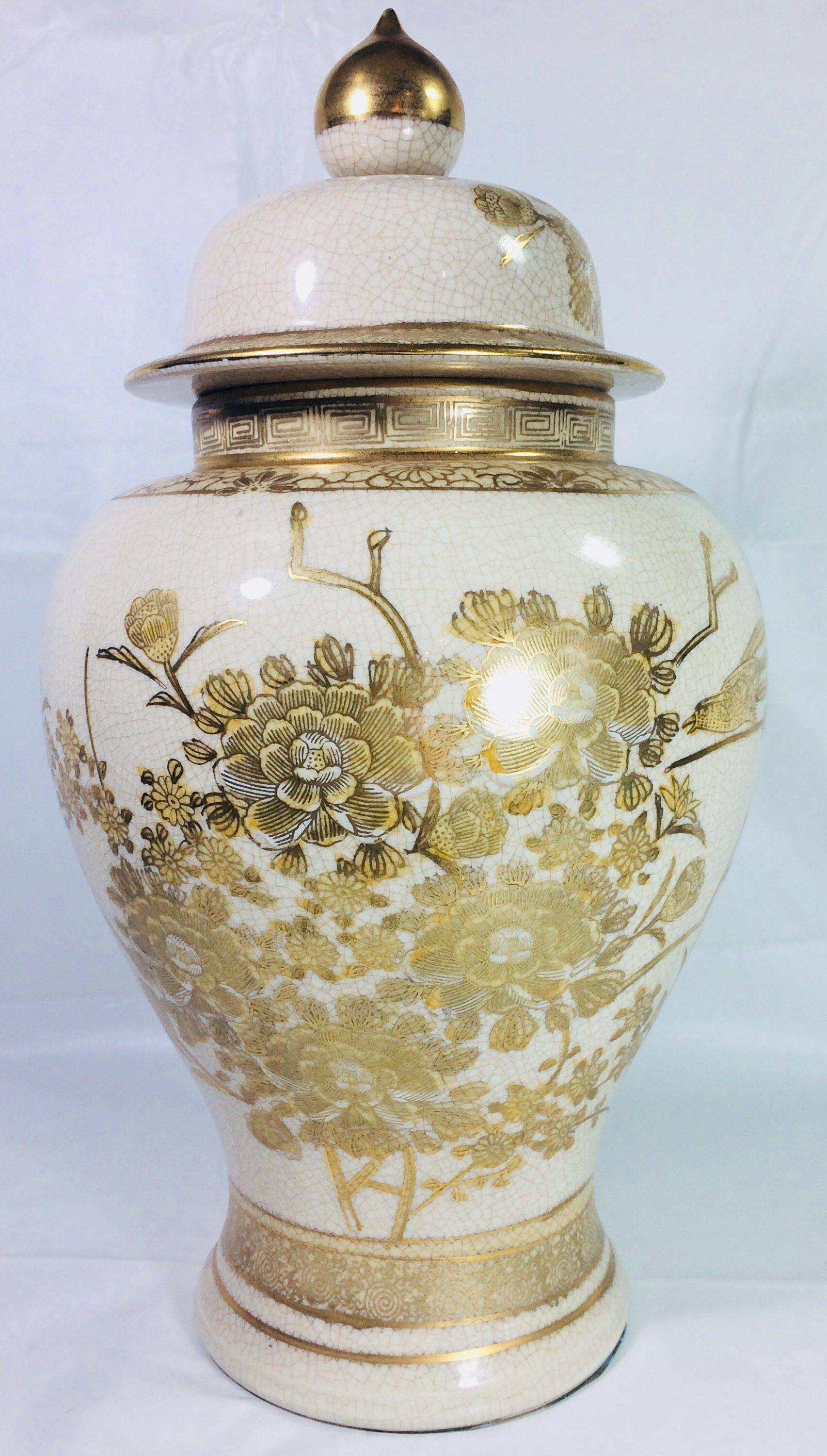 Decorative Urns Vases Oriental Urnvasehand Painted Asianoriental Decorgilded Urn