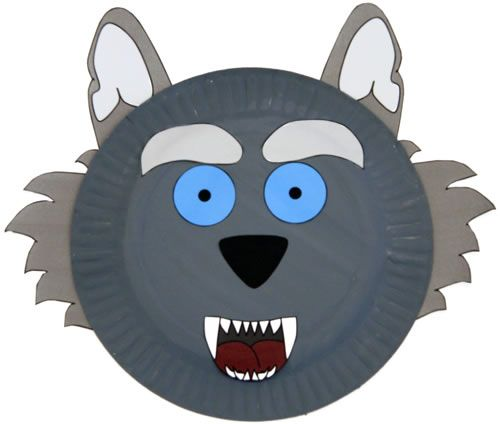 Paper Plate Wolf Craft For Kids Wolf Craft Animal