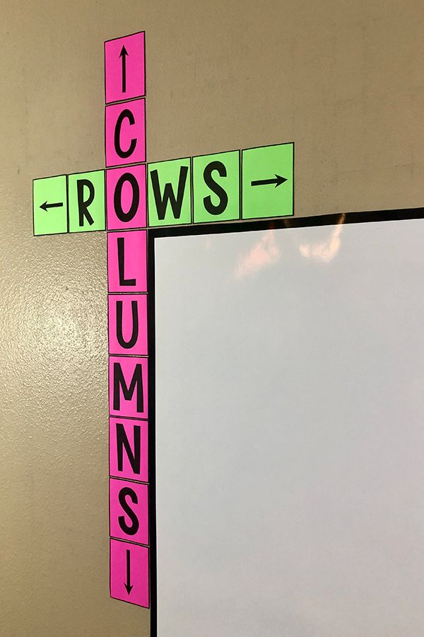 My Math Resources - FREE Rows and Columns Bulletin Board Poster