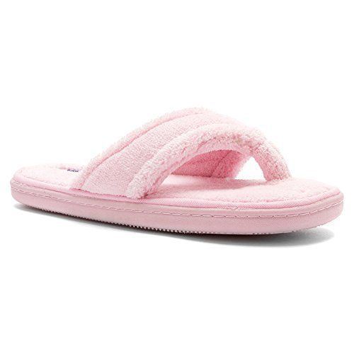 363a2693bb11 Tempur-pedic Women s Airsock Thong Slipper Pink 9 M US Tempur-Pedic http