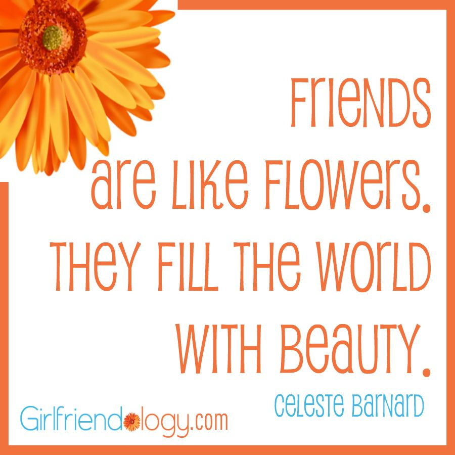 Quotes About Mending Friendships Friends Are Like Flowersthey Fill The World With Beauty