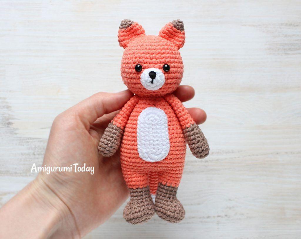 Little Fox-Hugger - Esquema de juguetes de punto   patrones gratis ...