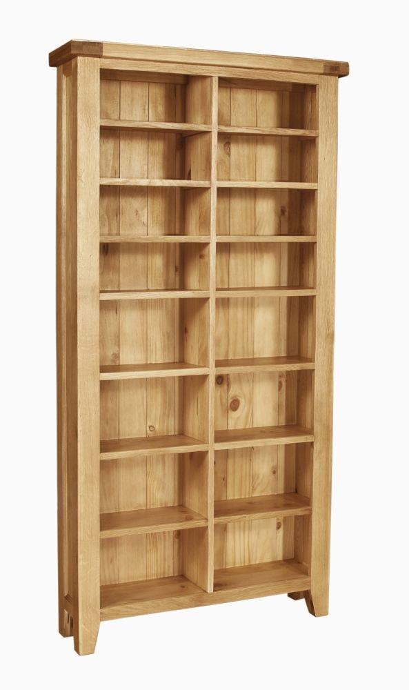 Panama Solid Rustic Oak Furniture Cd Dvd Storage Rack
