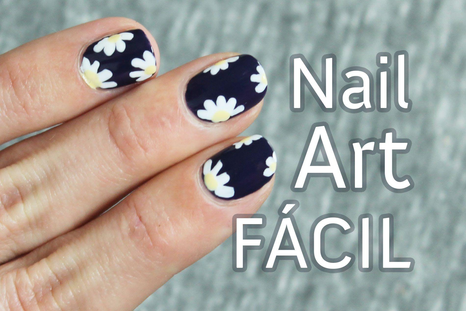 Uñas decoradas con flores paso a paso | Margaritas nail art ...