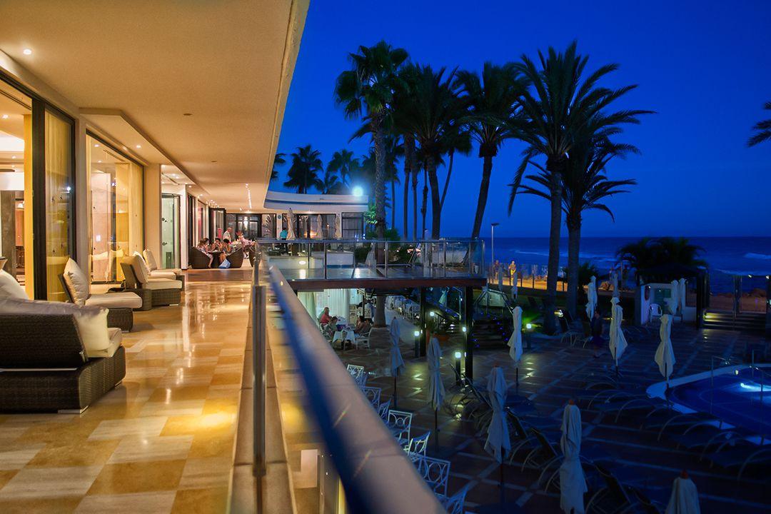 IFA Faro hotel exteriors at night