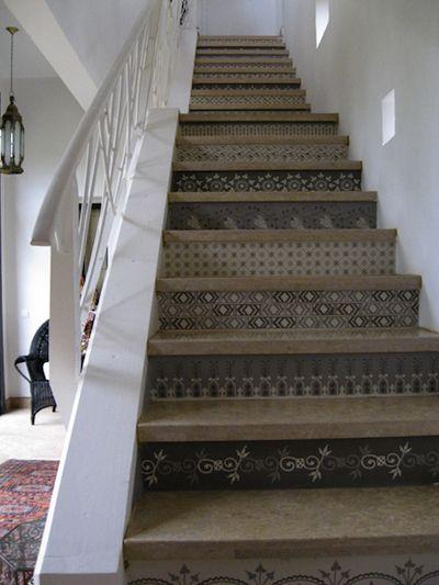 escalier peint | idée déco Mèze | Pinterest | Escaliers, Motifs et ...