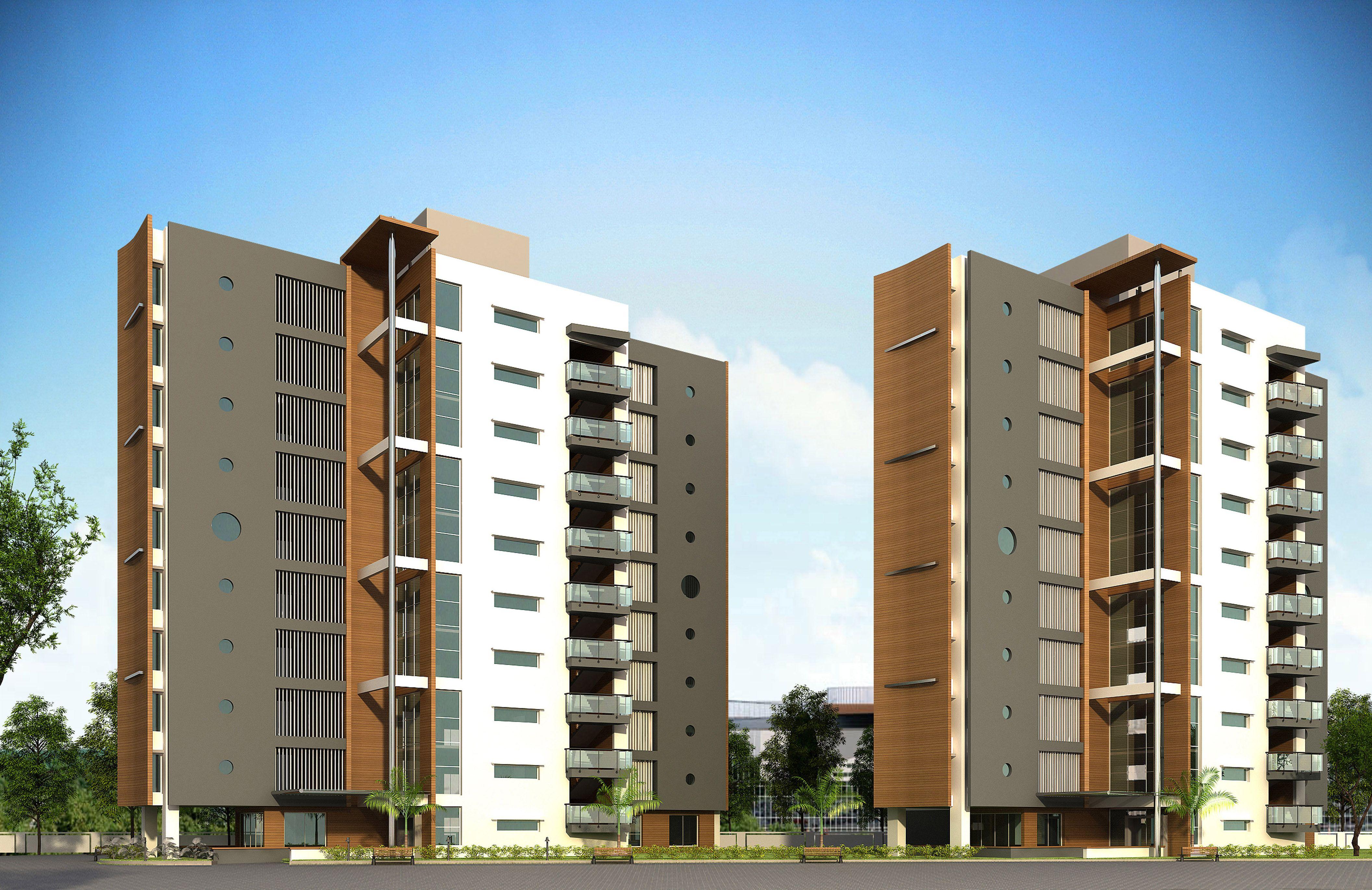 Dormitories Design Architecture Exterior Apartment High Rise Mva Maulikvyasarchitects
