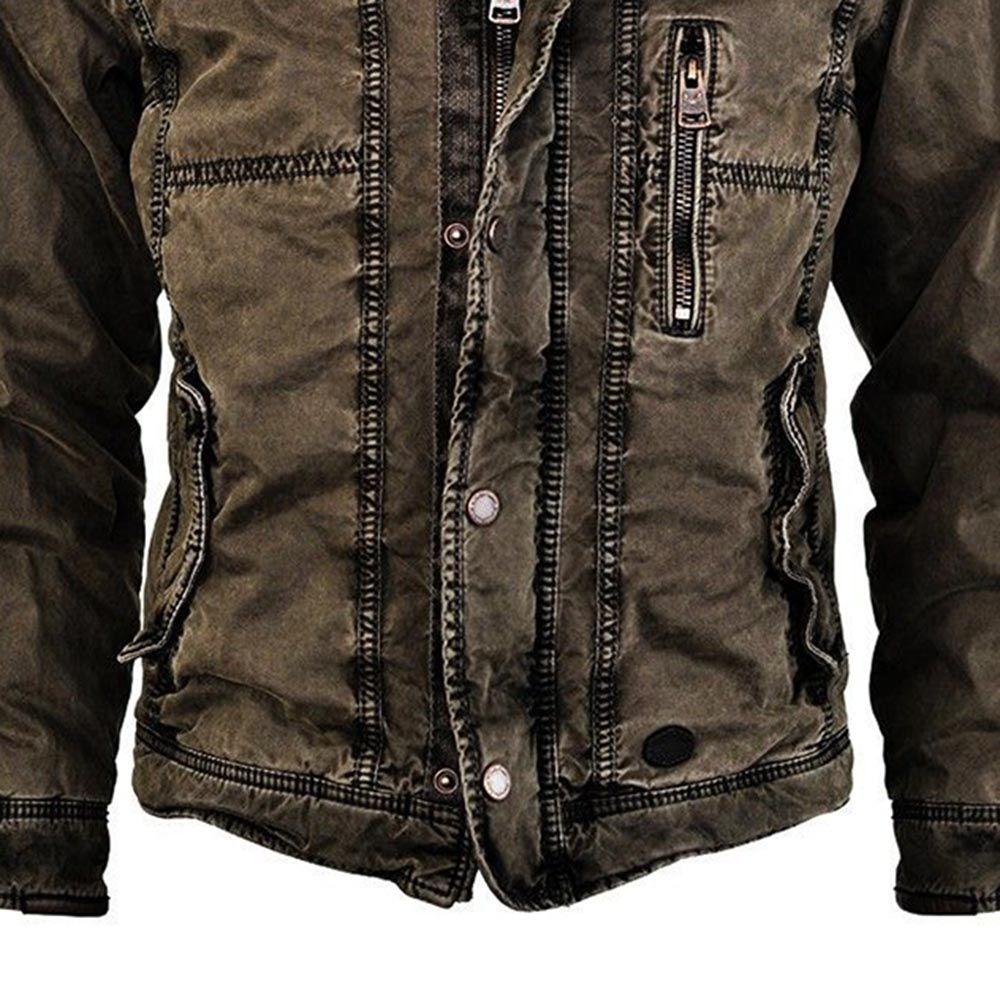 Solide Stehender Kragen Dicker Lassige Schlank Jacke Oceanbleue Com Winter Jackets Spring Casual Spring Jackets [ 1000 x 1000 Pixel ]