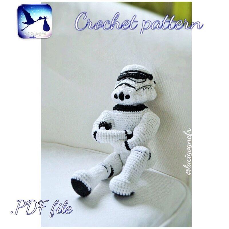 Star Wars CROCHET PATTERN. Stormtrooper amigurumi toy . Handmade toy ...