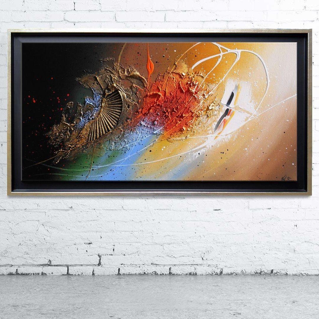 tableau abstrait contemporain toile encadr caisse am ricaine peinture en relief noir marron. Black Bedroom Furniture Sets. Home Design Ideas