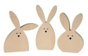 Drevené zajace - OPITEC-Hobbyfix - kreatívne materiály a hobby potreby - Značkové výrobky za super ceny!