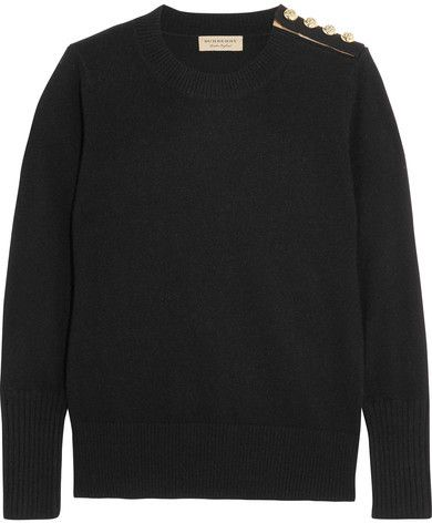 Burberry - Embellished Cashmere Sweater - Black | Women Cashmere ...